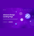 geometric abstract purple gradient landing page vector image