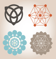 geometrical designs vector image vector image