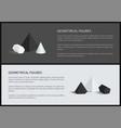 geometrical figures 3d set vector image vector image