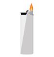 Grey pocket lighter vector image vector image