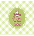 Happy Easter card with bunny in vector image