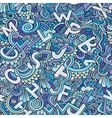 Letters abstract decorative doodles seamless
