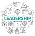 line flat circle leadership vector image vector image