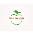 logo design element Apple fruit eco vector image