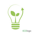 logo green energy logo with sprout and vector image vector image