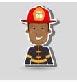 man fire helmet mask vector image