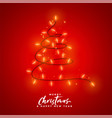 merry christmas red light decoration background vector image