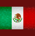 mexico country flag mexican nation vector image vector image