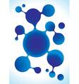 Molecule structure in blue color