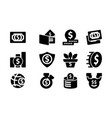 money template solid icon set vector image vector image