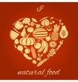 Natural food heart vector image vector image