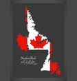 newfoundland and labrador canada map vector image