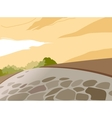 Park Stone Path Background vector image