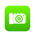 photo camera icon digital green vector image