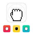 Pixel fist cursor icon vector image vector image