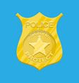 police officer badge gold emblem vector image
