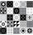 portuguese tiles azulejos seamless pattern vector image vector image