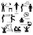 psychic power sixth sense stick figure pictogram vector image vector image