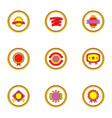 quality mark icons set cartoon style vector image vector image