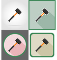 repair tools flat icons 12 vector image vector image