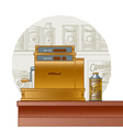 Retro cash register vector image vector image