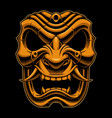 samurai warrior mask color version vector image vector image