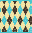 seamless argyle pattern with chaotic golden dots vector image