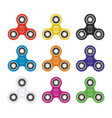 set fidget toy spinners vector image vector image