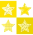 Set of hand drawn stars vector image vector image