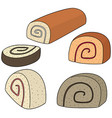set of jam roll vector image vector image