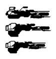 set weapons concept flamethrower vector image