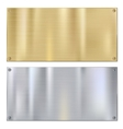 Shiny brushed metal vector image vector image