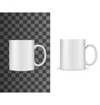tea mug cup mockup white blank isolated realistic vector image vector image