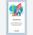 teamwork people dealing with business project vector image