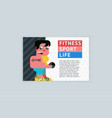 template a4 horizontal fitness sport life vector image