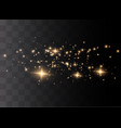 the dust sparks vector image vector image