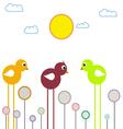 Three chickens vector image vector image