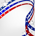 usa pride background with swirly stripes vector image