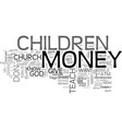 what do you teach your children about money text vector image vector image