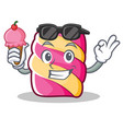with ice cream marshmallow character cartoon style vector image