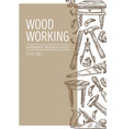 wood working carpentry tools and handmade wooden vector image