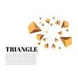 yellow realistic triangles and golden light vector image