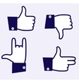Likes icons vector image