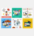 set education concepts vector image