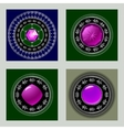 Set of four pendants in silver vector image