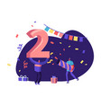 2020 office or home party celebration concept vector image vector image