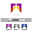 Abstract colorful logo icons template vector image vector image