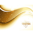 Abstract golden glittery Christmas design vector image vector image