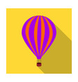 air balloon for walking transport works on warm vector image vector image