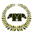 arch of leaves with american football chest vector image vector image